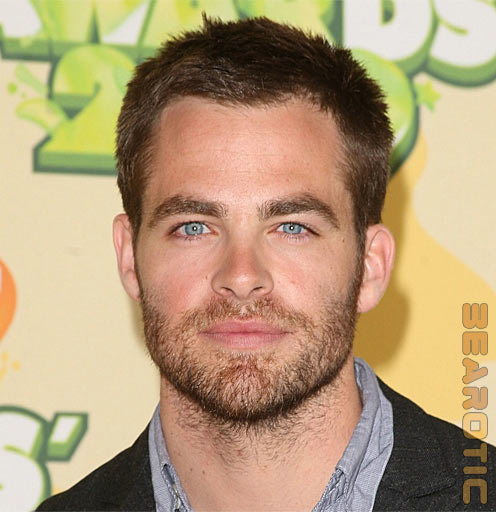 Direct from Otterdoc, some mighty scruffy Chris Pine, who will play Capt.