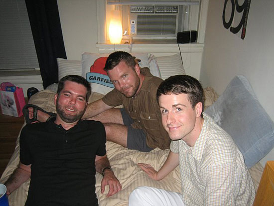 Chrisafer, Jimbo and some adorkable guy