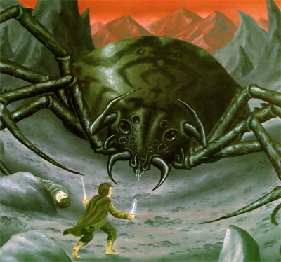 Jimbo vs. Shelob, the Spider Queen