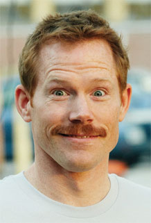 Ginge, with 'stache